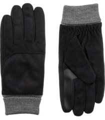 isotoner signature men's smart dri microfiber gloves with smart touch technology