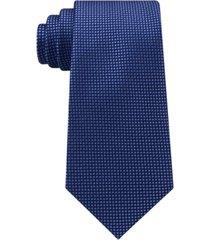 tommy hilfiger men's navy micro silk tie