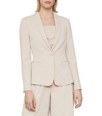 bcbgmaxazria women's relaxed-fit twill blazer - bare pink - size l