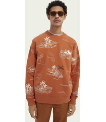 scotch & soda sweater met all-over borduursels