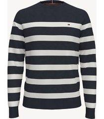 tommy hilfiger men's essential breton stripe sweater sky captain - xxxl
