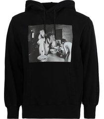 x nick farhi core hoodie, black