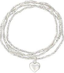 bracciale multifilo cuore in metallo in stile boho chic per donna
