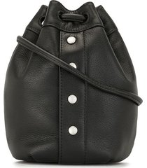 agnès b. studded bucket bag - black