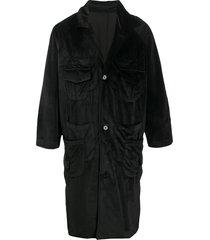 goodfight velvet slouchy coat - black