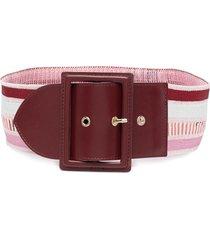 missoni striped waist belt - pink