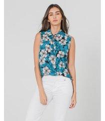 camisa con estampado floral
