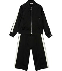 moncler black and white sport suit