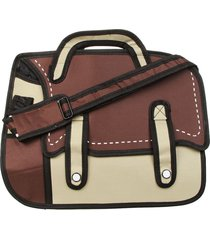 morral grande 2 tiras hondori st marron-beige fight for your right