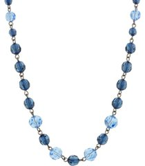 2028 black-tone beaded single strand necklace
