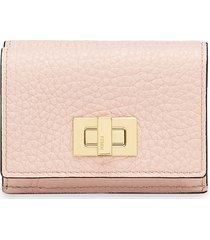 fendi textured trifold wallet - pink