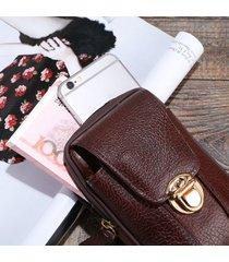 borsa a tracolla per borsa a tracolla da 5 pollici in vera pelle vintage casual da uomo
