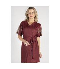 robe curto estampado feminino - toque sleepwear