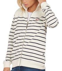 barbour folkestone cotton striped zip sweater