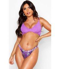 mix & match underwired bikini top, purple