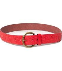 cinturón basic rojo desigual