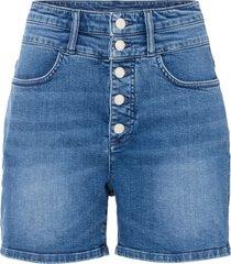 shorts di jeans a vita alta in cotone biologico (blu) - rainbow