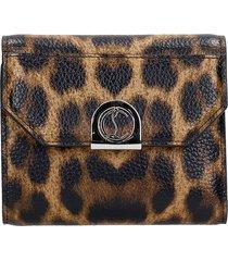 christian louboutin elisa wallet in animalier leather