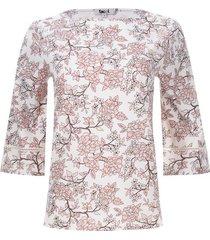 blusa con encaje en mangas color blanco, talla 6