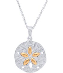 diamond accent sand dollar fine gold plate pendant