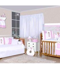 quarto completo padroeira baby bela bailarina rosa