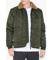 topman khaki borg collar jacket jackor khaki