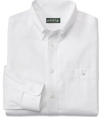 pure cotton wrinkle-free pinpoint oxford long-sleeved shirt, white, 2xl
