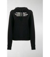 burberry location print oversized hoodie