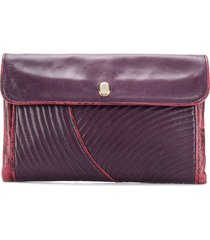 a.n.g.e.l.o. vintage cult 1980s quilted flap clutch - purple