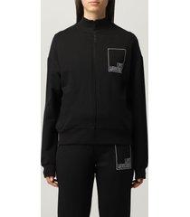 love moschino sweatshirt love moschino zip-up cotton sweatshirt