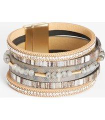 maurices womens gray stripe magnetic bracelet