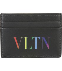 valentino garavani logo print credit card holder