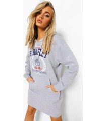 california varsity hoodie jurk, grey