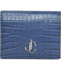 jimmy choo hanne folding wallet - blue