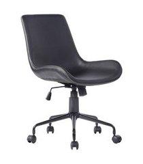 cadeira de escritório secretária giratória adams preta