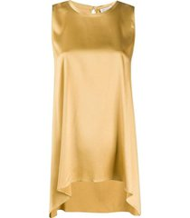 asymmetric sleeveless blouse