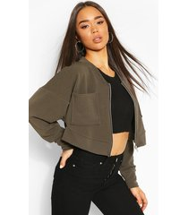 batwing pocket detail bomber jacket, khaki