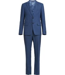 prada single-breasted oxford suit - blue