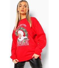 coca cola kerstkrans sweater, red