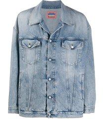 acne studios jaqueta jeans oversized - azul