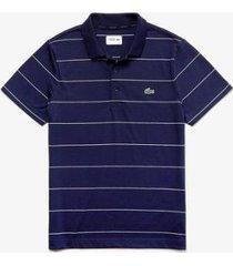 camisa polo lacoste sport listrada masculina