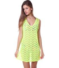 vestido simony lingerie saída praia renda neon verde