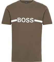 t-shirt rn slim fit t-shirts short-sleeved beige boss