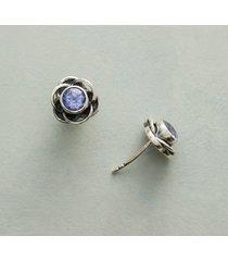 tanzanite blossom earrings