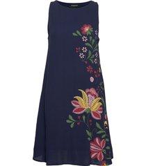 vest anjou jurk knielengte blauw desigual