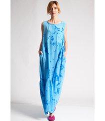 an an londree sleeveless dress swedish blue