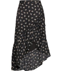 wendy animal knälång kjol svart line of oslo