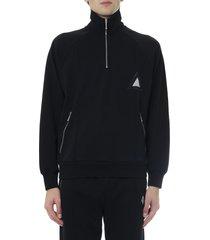 diesel black cotton jersey sweatshirt