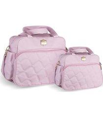 kit bolsas bebê maternidade rosa  classic 2 peças griff - tricae