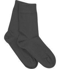 katoenen sokken uit biologisch katoen in een dubbelpak, antraciet 37/38